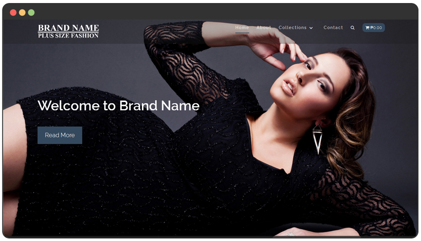 portfolio Plus-Size Fashion Website + e-Commerce