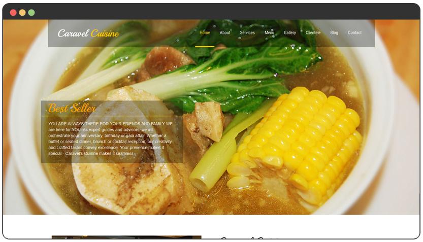 portfolio Food Catering Website