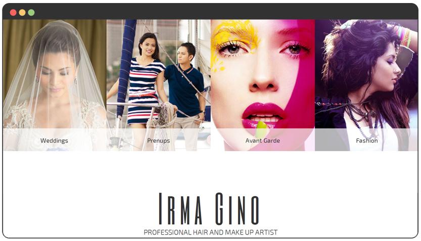web design for make up artist