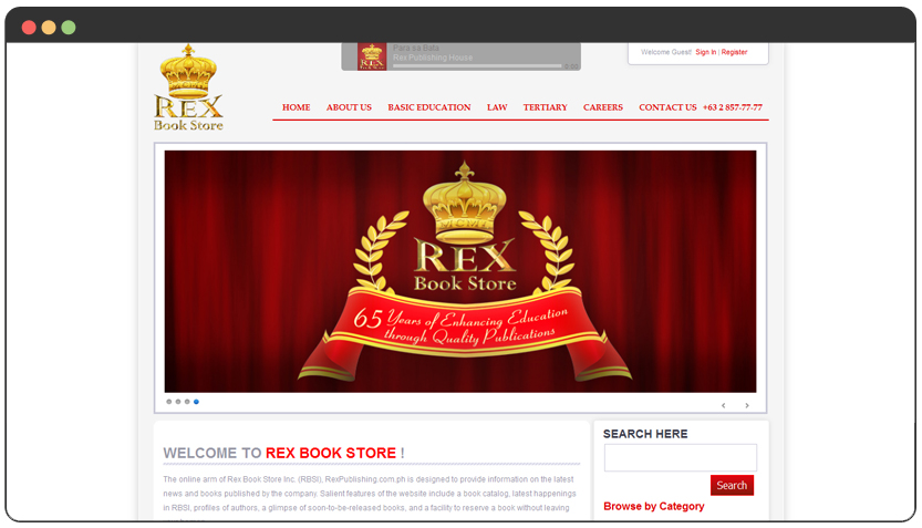 website development for publishing house