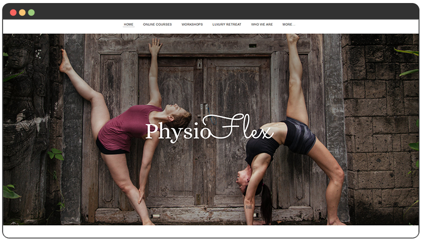 Contortionist and Physiotherapist Website
