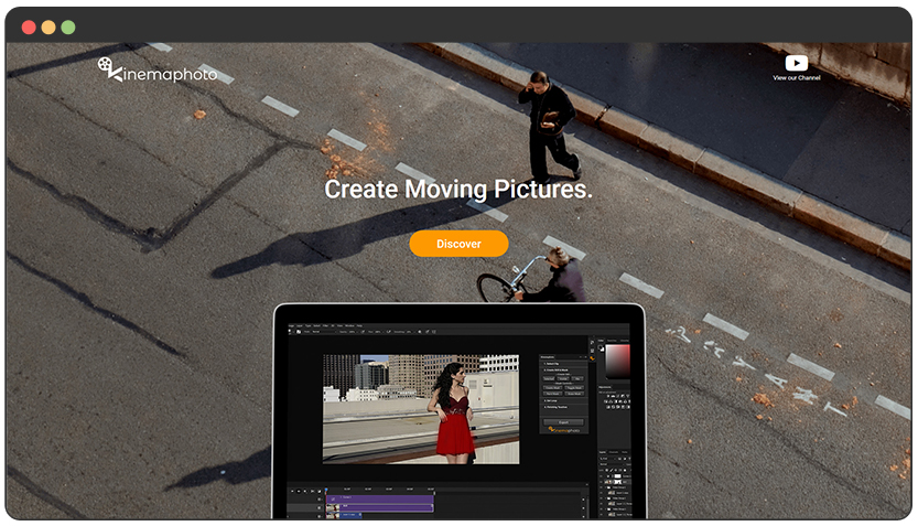 Landing Page + ecom for Cinemagraphs Photoshop Extension