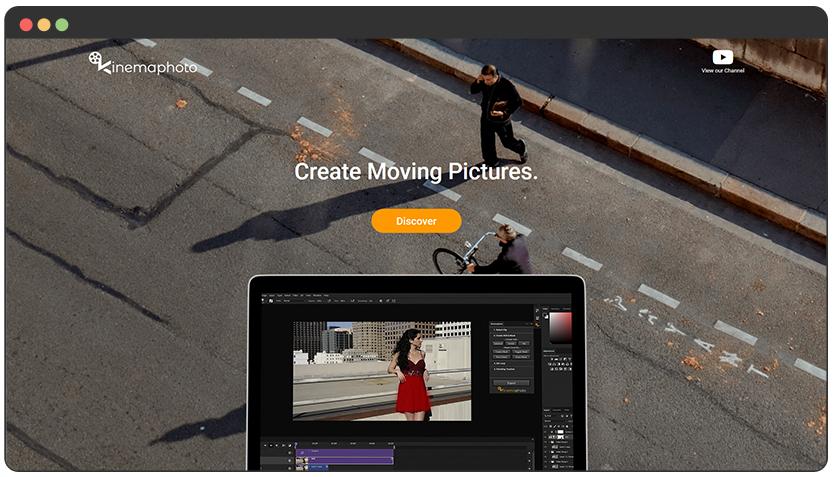 portfolio Landing Page + ecom for Cinemagraphs Photoshop Extension