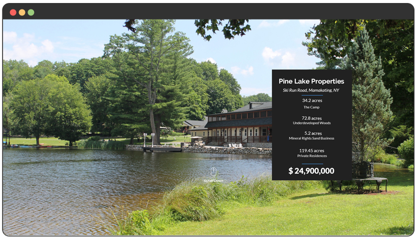portfolio Landing Page – Real Estate Property