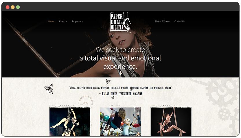 portfolio Aerial Theater Productions / Aerial Entertainment