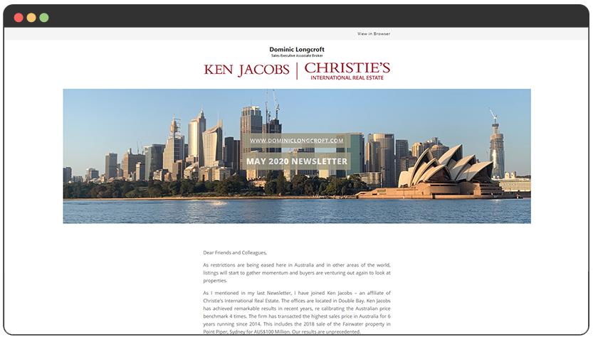 portfolio Real Estate Newsletter Template