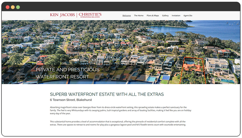 Microsite : Real Estate Property